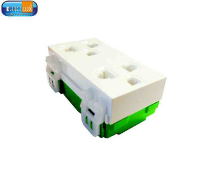 Picture of Eurolux Duplex Universal Outlet With Ground (Ewodg) 16A