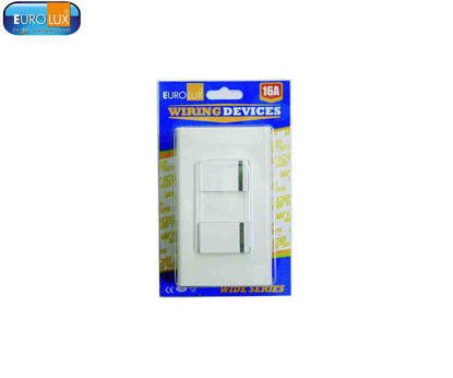 Picture of Eurolux 2 Gang Switch (Ews2Gs) 16A
