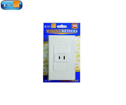 Picture of Eurolux 1 Gang Flat Pin Outlet (Ews1Gfpo) 16A