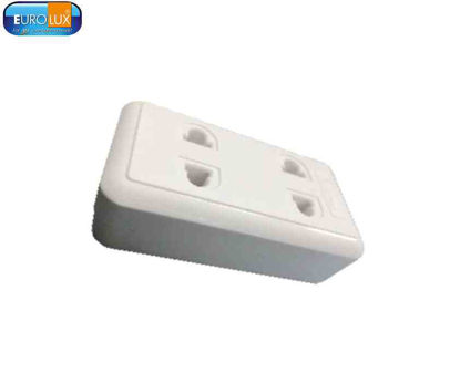 Picture of Eurolux 2 Gang Outlet Surface Mount (Co-10 2G-U) 10A