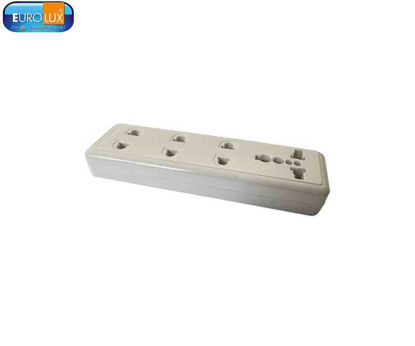 Picture of Eurolux 4 Gang Outlet Surface Mount (Co-10 4G-U) 10A