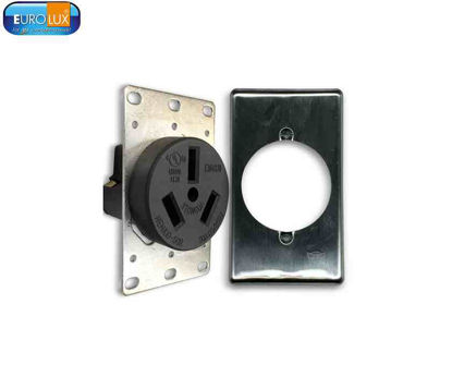 Picture of Eurolux Range Outlet 50A With Steel Plate