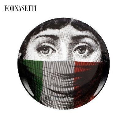 Picture of Fornasetti Wall plate Tema e Variazioni n°398 colour