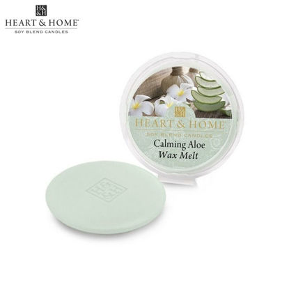 Picture of Wax Melt 26g (Calming Aloe) Fragranced Scented Soy Candles by Heart & Home