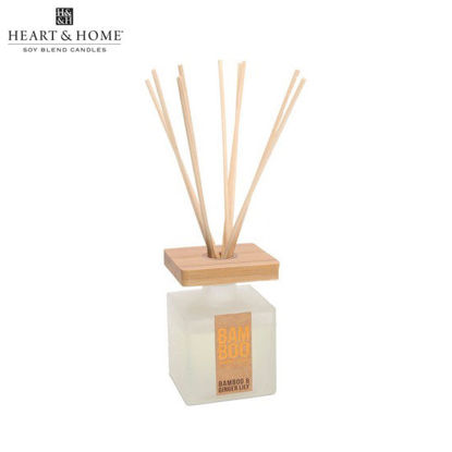 Picture of 80ml Fragrance Oil DIFFUSER (Bamboo & Ginger Lily) BAMBOO Eco Fragrances by Heart and Home
