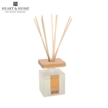 Picture of 80ml Fragrance Oil DIFFUSER (Cedarwood & White Musk) BAMBOO Eco Fragrances by Heart and Home