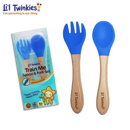 Picture of Li'l Twinkies Train Me Spoon and Fork Set