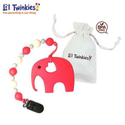 Picture of Li'l Twinkies Teether w/ Clip-on, Elephant
