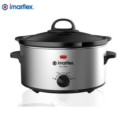 Picture of Imarflex ISC-350S Slow Cooker 3.5 Qt Stainless Body