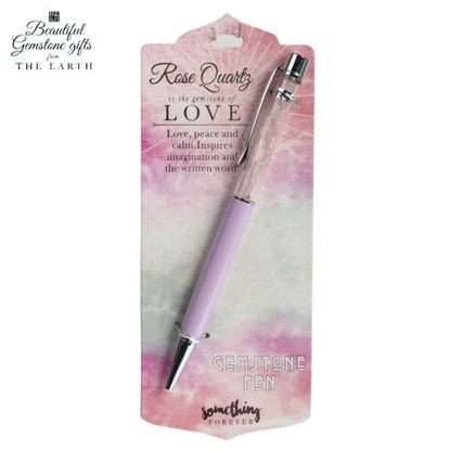 Picture of Pen (Rose Quartz) - The Gemstone of Love Something Forever Gifts From The Earth by Heart & Home