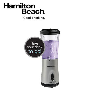 Picture of Hamilton Beach Single Serve Blender with Travel Lid- Silver 51107-PH
