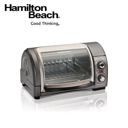 Picture of Hamilton Beach 4 Slice Easy ReachOven with Roll-Top Door31334-PH