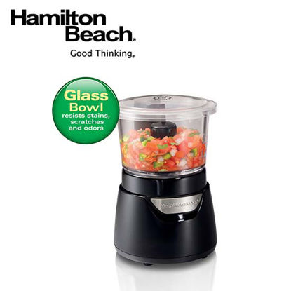 Picture of Hamilton Beach Stack & Press™ 3 Cup Glass BowlChopper72860-PH