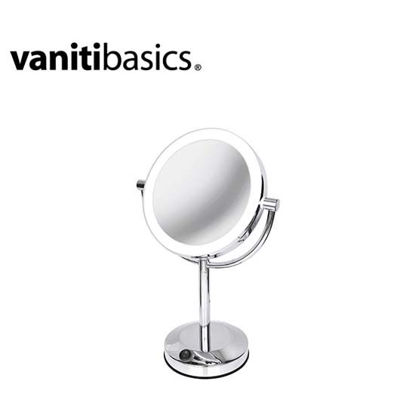 Picture of Vanitibasics 7.5'' Double-Sided Super Bright LED Mirror with Bright Chrome Finish ED19T51