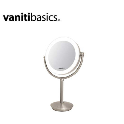 Picture of Vanitibasics 8.5'' Double-Sided Super Bright LED Mirror with Satin Nickel Finish ED22DT5