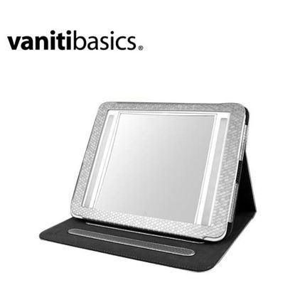 Picture of Vantibasics 22cm Double-Sided Bright Illuminated LED Mirror with Leather Case IM2419