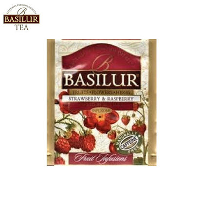 Picture of Basilur Tea Strawberry and Raspberry 100 Tea Bags
