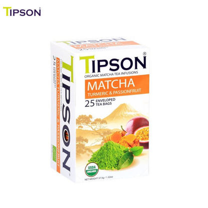 Picture of Tipson Organic Matcha Turmeric & Passion Fruit