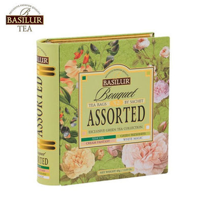 Picture of Basilur Tea Book - Bouquet Green Tea Collection (32bags)