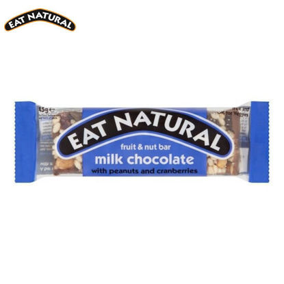 Picture of Eat Natural Milk Chocolate with Peanuts and Cranberries (45g)
