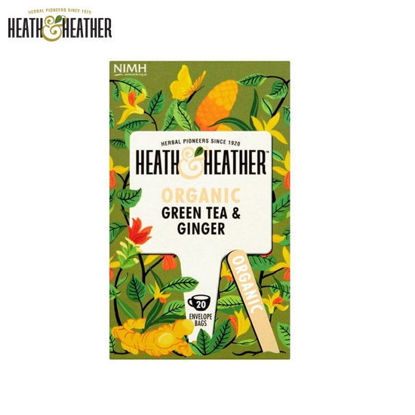 Picture of Heath & Heather Organic Green Tea & Ginger (40g)