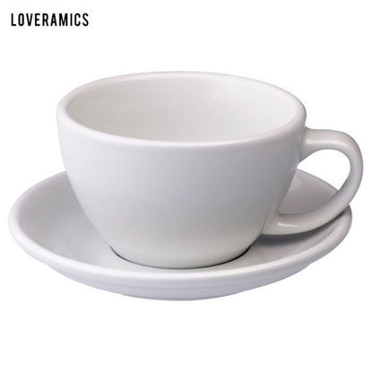 Picture of Loveramics Egg 300ml Café Latte Cup & Saucer in White