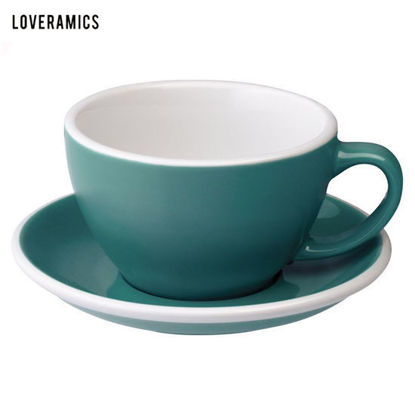 Picture of Loveramics Egg 300ml Café Latte Cup & Saucer in Teal