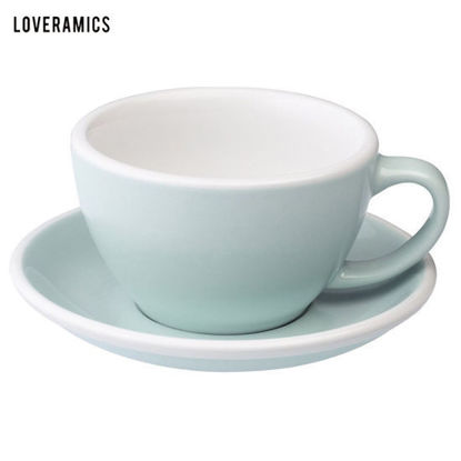 Picture of Loveramics Egg 300ml Café Latte Cup & Saucer in River Blue