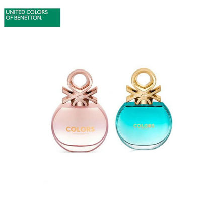 Picture of United Colors of Benetton Colors De Benetton Rose EDT 80ML + Colors De Benetton Blue EDT 80ML