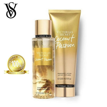Picture of Victoria's Secret Coconut Passion Frag Lotion 236ml + Victoria's Secret Coconut Passion Frag Mist 250ml