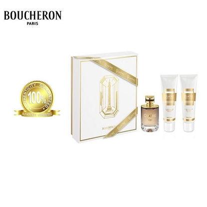 Picture of Boucheron Quatre Absolu De Nuit For Women EDP 100ml+100ml Body Lotion+100ml Shower Gel Set