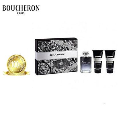 Picture of Boucheron Quatre Absolu De Nuit For Men EDP 100ml+100ml After Shave Balm+100ml Shower Gel For Men