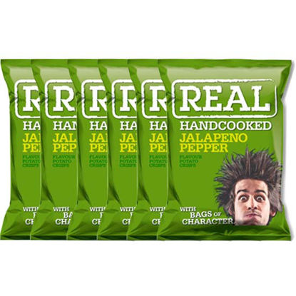 Picture of Real Handcooked Crisps Jalapeno Pepper  x 6pcs