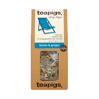 Picture of teapigs Lemon and Ginger (15 Temples)