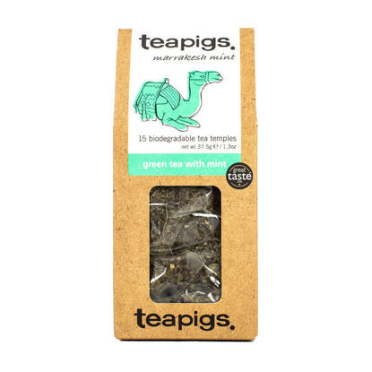 Picture of teapigs Green Tea with Mint 15 Temples (37.5g)