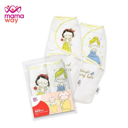 Picture of Mamaway Disney Princess Cocoon Swaddle Wrap 2 Pack Yellow