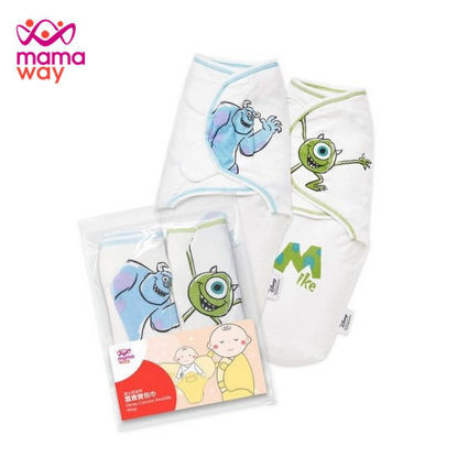 Picture of Mamaway Disney Monsters Inc Cocoon Swaddle Wrap 2 Pack Blue/Green