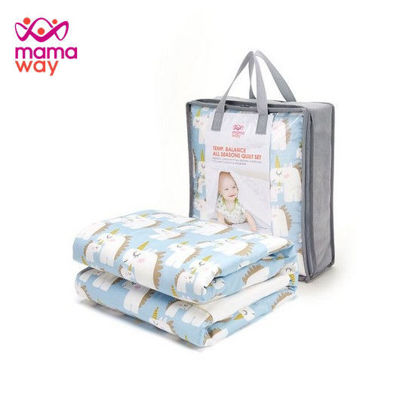 Picture of Mamaway Unicorn Quilt - Cell Tech Blue