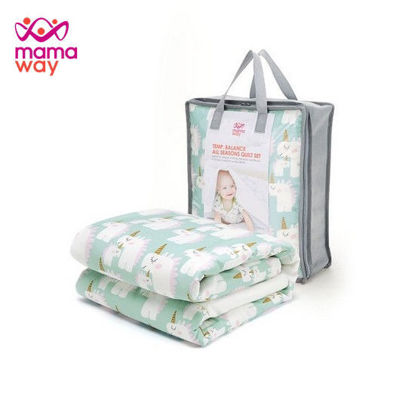 Picture of Mamaway Unicorn Quilt - Cell Tech Green
