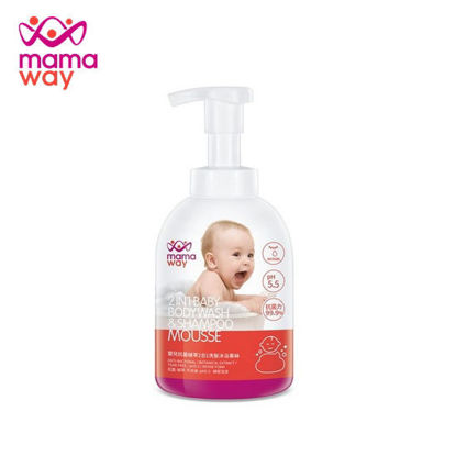 Picture of Mamaway 2in1 Baby Bodywash and Shampoo Mousse White - 500ml