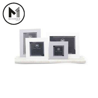 Picture of MODERNO Premium Picture Frame Set of 4 White Gray Matte Finish