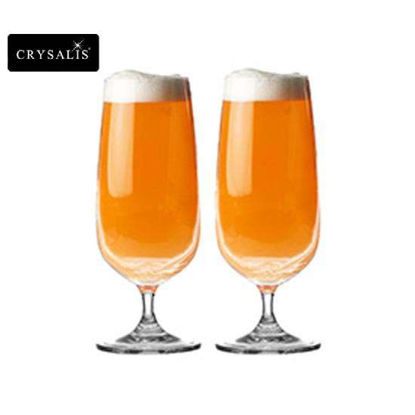 Picture of CRYSALIS Premium Lead Free Crystal Stemware Beer Goblet Cocktail Glass 421ml | 14.23oz Set of 2