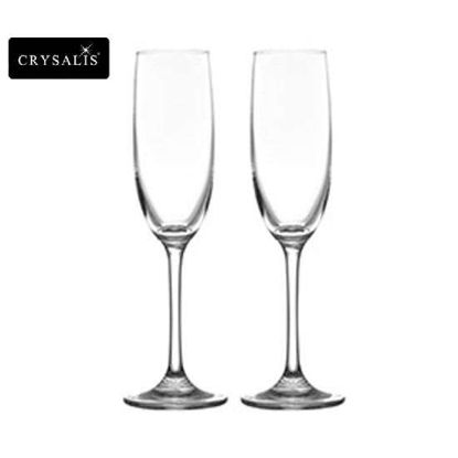 Picture of CRYSALIS Premium Lead Free Crystal Stemware Flute Champagne Cocktail Glass 205ml | 7oz Set of 2