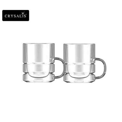 Picture of CRYSALIS Premium Clear Glass Espresso Cup Double Wall 80ml | 2.7oz Set of 2