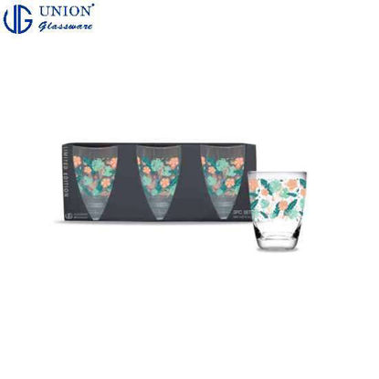Picture of UNION GLASS Thailand Premium Printed Glass Limited Edition Design Water, Juice, Soda, Liquor Glass 445ml | 16oz Set of 3