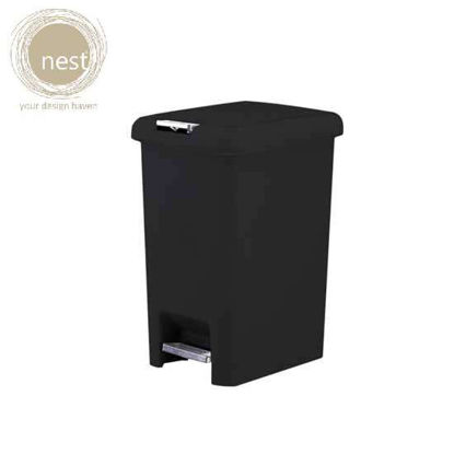 Picture of NEST DESIGN LAB Pedal bin Plastic 10 Liter Black