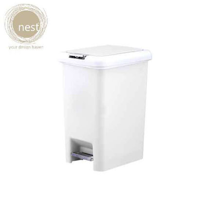 Picture of NEST DESIGN LAB Pedal bin Plastic 10 Liter White