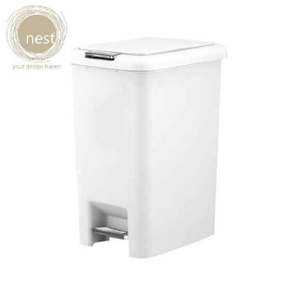 Picture of NEST DESIGN LAB Pedal bin Plastic 20 Liter White