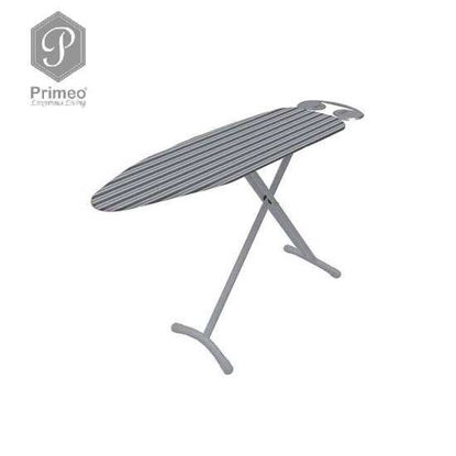 Picture of PRIMEO Premium Metal Ironing Board Cover w/ Foam Adjustable Height 110cm X 33cm X 86cm Grey