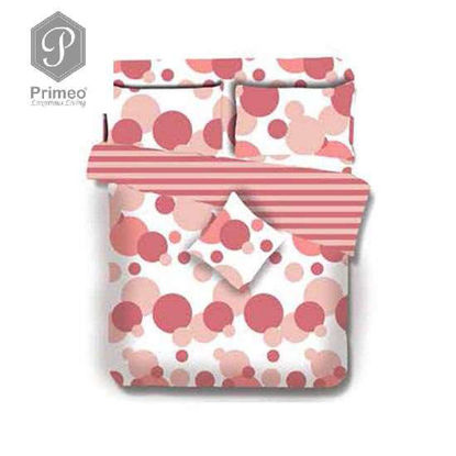 Picture of PRIMEO Premium 100% Cotton 220TC King Comforter Set of 4 Coral